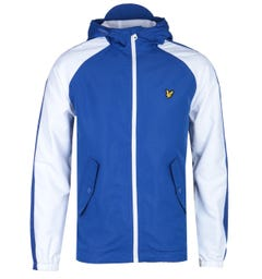 Lyle & Scott Two-Tone Colour Block Blue & White Jacket