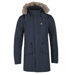 Lyle & Scott Microfleece Dark Navy Parka
