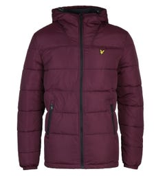 Lyle & Scott Burgundy Wadded Jacket