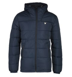 Lyle & Scott Navy Wadded Jacket