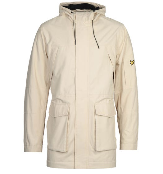 Lyle & Scott Beige Panelled Parka Jacket