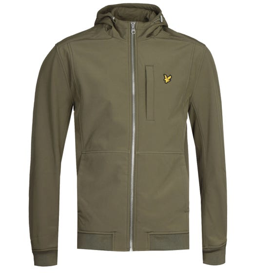 Lyle & Scott Lichen Green Softshell Jacket