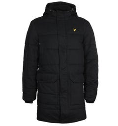 Lyle & Scott Black Wadded Longline Jacket