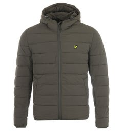 Lyle & Scott Recycled Nylon Lightweight Puffer Jacket - Trek Green