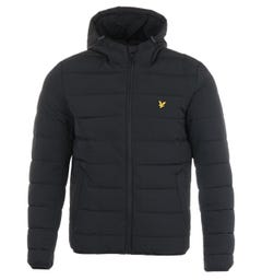 Lyle & Scott Recycled Nylon Lightweight Puffer Jacket - Jet Black