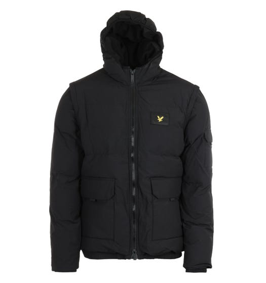 Lyle & Scott Jet Black 2-In-1 Ripstop Puffer Jacket