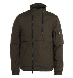Lyle & Scott Trek Green Double Zip Jacket