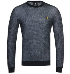 Lyle & Scott Dark Navy Knitted Sweatshirt
