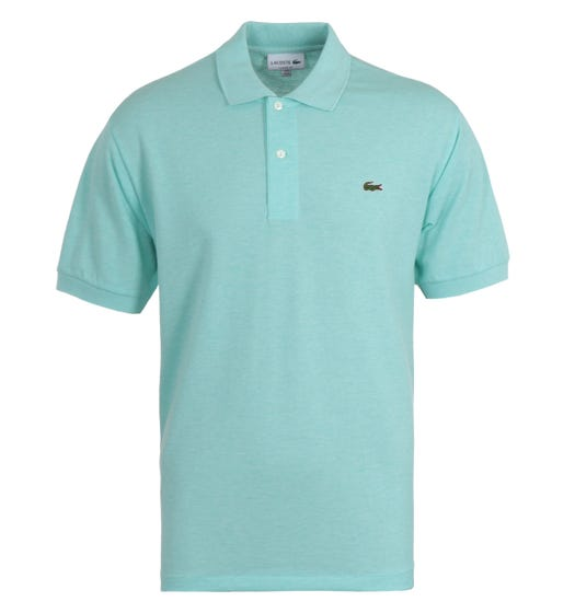 Lacoste Classic Fit Marled Seafoam Polo Shirt