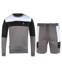 Luke 1977 Grey Block Sweatshirt & Short 2 Pack