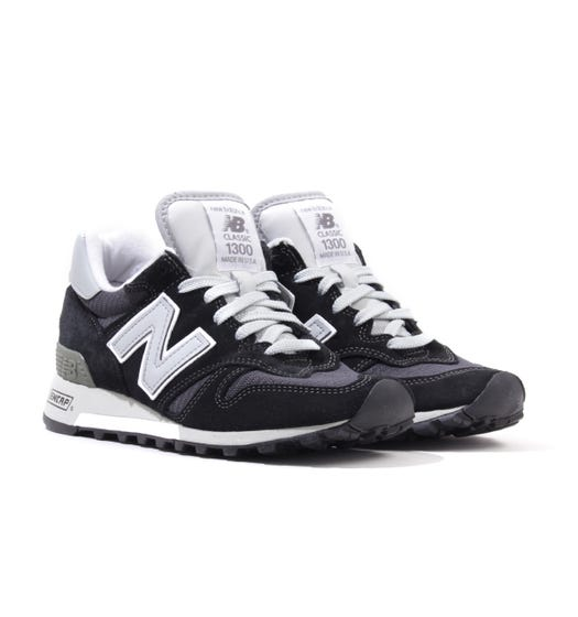 New Balance 1300 Made in the USA Suede Trainers - Black & Grey