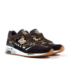 New Balance Made in England 1500 Brown Leopard Print Suede Trainers