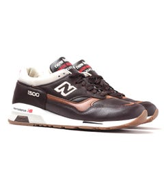 New Balance Made in England M1500 brown Leather Trainers