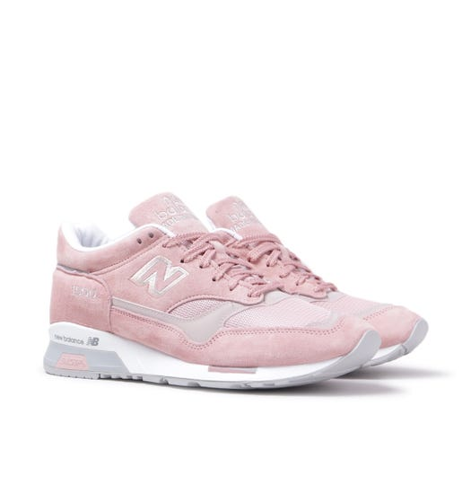 New Balance Made in England M1500 Dusty Pink Leather Trainers