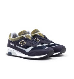 New Balance 1500 Made in England Navy & Green Suede Trainers