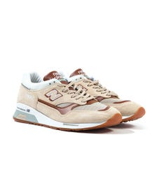 New Balance Made in England 1500 Beige & Brown Suede Trainers
