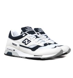 New Balance Made in England M1500 White With Navy Suede Trainers