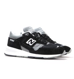 New Balance 1530 Made in England Black Suede Trainers