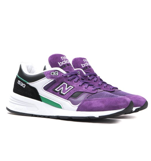 New Balance 1530 Made in England Deep Purple Suede Trainers