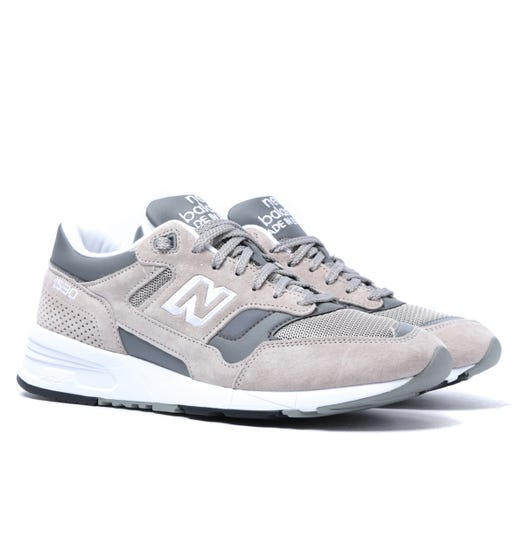 New Balance 1530 Made in England Stone Grey With White Suede Trainers