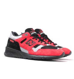 New Balance 1530 Made in England Red, Black & Grey Suede Trainers