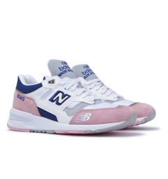 New Balance 1530 Made in England White & Pink Suede Trainers