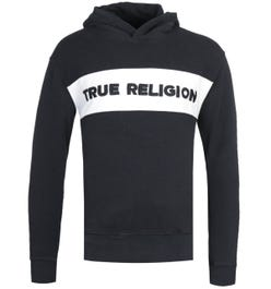 True Religion Embroidered Logo Black Pullover Hoodie