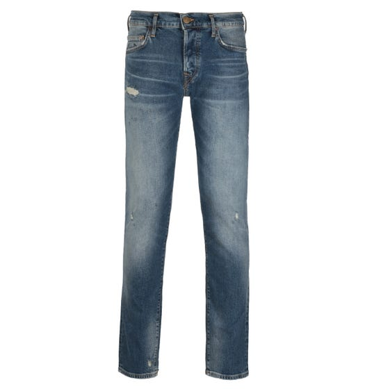 True Religion Rocco Relaxed Skinny Fit No Flap Blue Denim Jeans