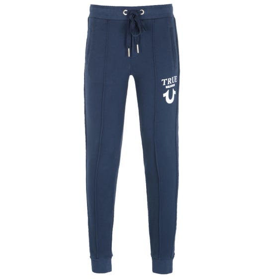 True Religion Puffy Print Navy Sweatpants