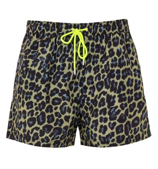 PS Paul Smith Leopard Print Sustainable Swim Shorts - Green
