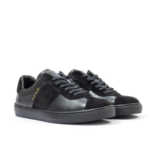 PS Paul Smith Levon Leather Trainers - Black & Blue