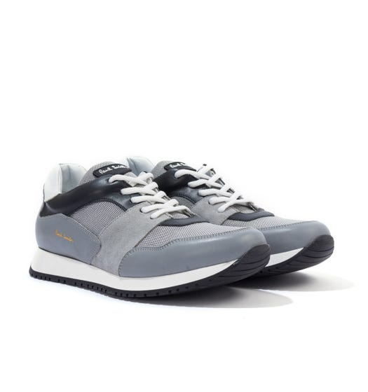 PS Paul Smith Pioneer Leather, Suede & Mesh Trainers - Grey