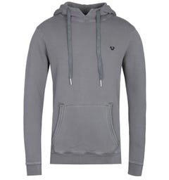 True Religion Horseshoe Logo Grey Pullover Hoodie