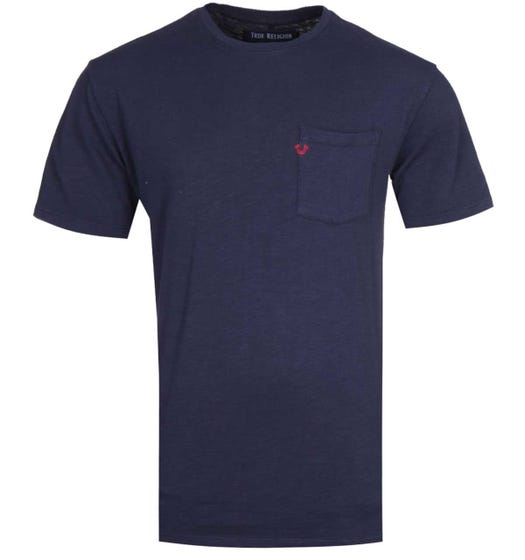 True Religion Pocket Logo Navy T-Shirt