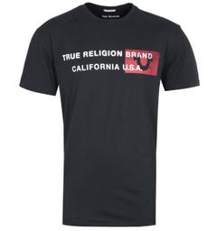 True Religion California U.S.A Horseshoe Logo Black T-Shirt