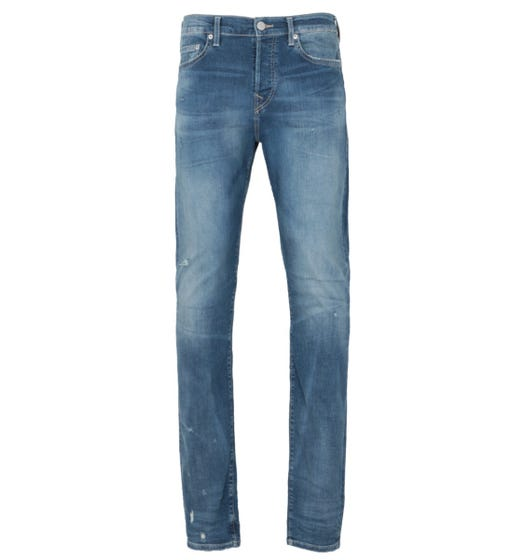 True Religion Rocco Relaxed Skinny Fit Jeans - Light Blue Denim