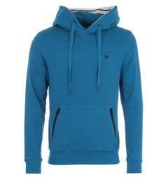 True Religion Hooded Sweatshirt - Teal Blue