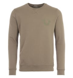 True Religion Crew Neck Sweatshirt - Olive