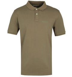 True Religion California U.S Polo Shirt - Olive