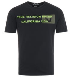 True Religion Brand California U.S Logo T-Shirt - Black