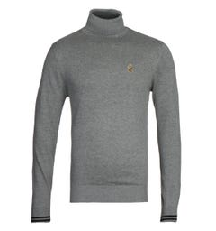 Luke 1977 Mid Grey Turtles Neck Sweater