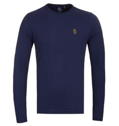 LUKE 1977 Trouser Snake Navy Long Sleeve T-Shirt