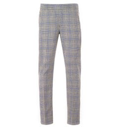 PS Paul Smith Check Wool Drawcord Trouser - Grey