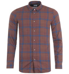 PS Paul Smith Plaid Tailored Fit Shirt - Brown