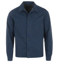 PS Paul Smith Check Padded Cotton Jacket - Blue