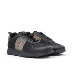 PS Paul Smith Rappid Knitted Mesh Trainers - Black Reflective