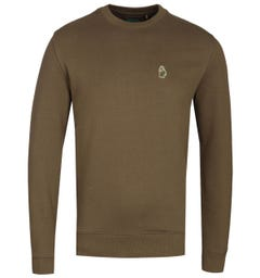 Luke 1977 The Runner Khaki Crew Neck Sweatshirt