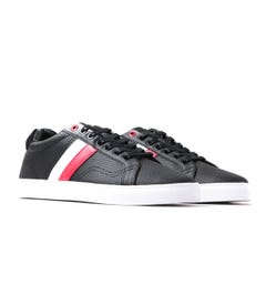 Luke 1977 Lynam Perforated Black Leather Trainers