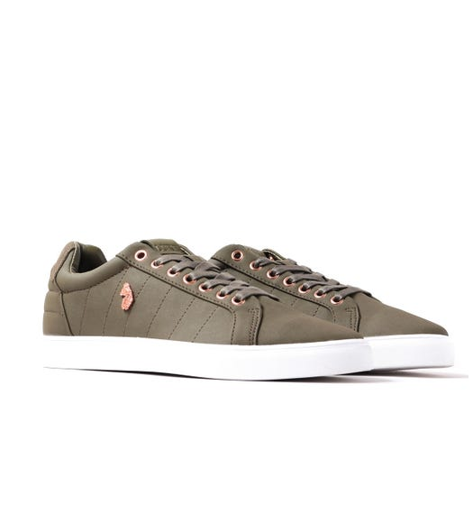Luke 1977 Haskell Quilted Moss Green Trainers