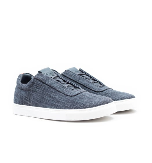 Luke 1977 Shaw Canvas Charcoal Trainers